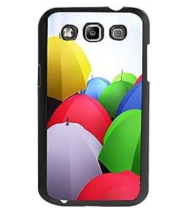 ColourCraft Colourful Umbrellas Design Back Case Cover for SAMSUNG GALAXY GRAND QUATTRO I8552 / WIN I8550