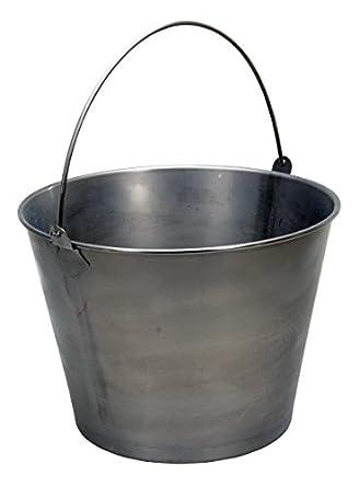 """Vestil BKT-SS-500 Stainless Steel Bucket, 11"""" Depth, 5 gallon Capacity"""