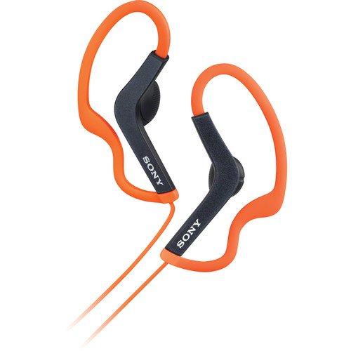 Sony Lightweight Water-Resistant Sweat-Proof Active Sport Headphones (Orange)