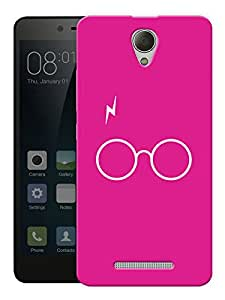"""Glasses Minimal - Pink Printed Designer Mobile Back Cover For """"Xiaomi Redmi 3S"""" By Humor Gang (3D, Matte Finish, Premium Quality, Protective Snap On Slim Hard Phone Case, Multi Color)"""