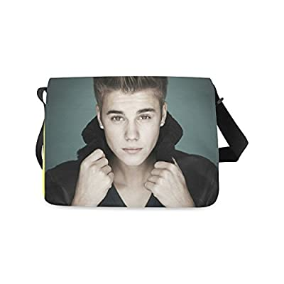 2buymore Custom School Bag Messenger Bag Justin Bieber 21.41 Oz Personalized Shoulder Bags Black