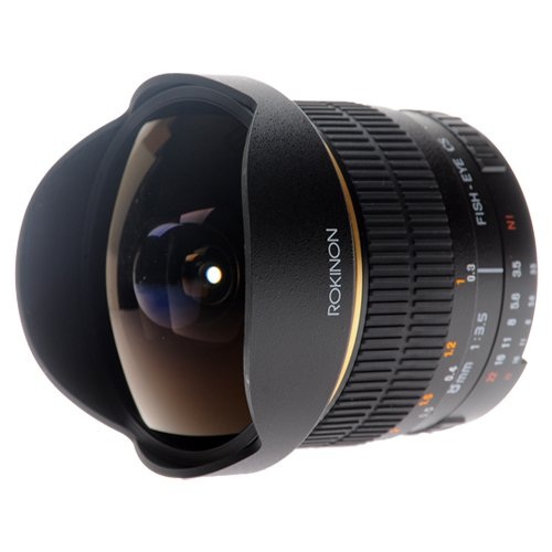 Rokinon FE8M-C 8mm F3.5 Fisheye Lens for Canon (Black)