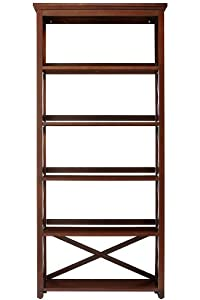Brexley Five shelf Bookcase, 5 SHELF, CHESTNUT