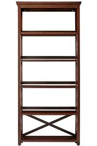 Brexley Five shelf Bookcase, 5 SHELF, CHESTNUT