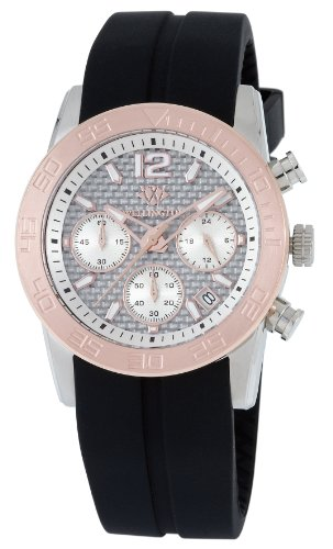 Wellington Ladies Quartz Watch with Silver Dial Analogue Display and Black Silicone Strap WN503-312