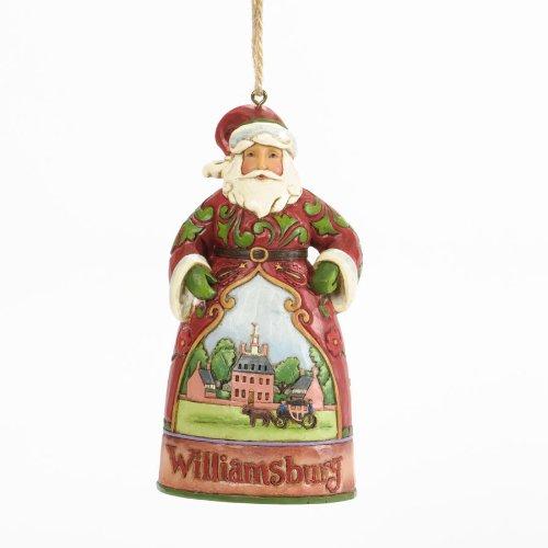 Jim Shore for Enesco Williamsburg Santa Ornament, 4.75-Inch