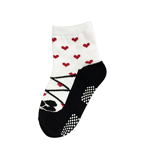 Bowbear Baby Girls 6 Pair Fruity Mary Janes Non-Slip Socks, G6PAIR01 Size: Sole of foot, 5 inches; Height 3.5 inches
