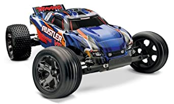 Traxxas RTR 1/10 Rustler VXL 2.4GHz with 7 Cell Battery and Charger (Colors May Vary)