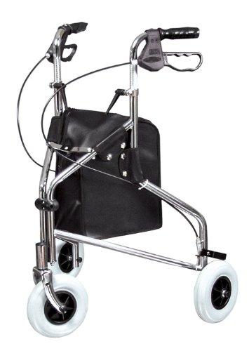 Lumex Sure-Gait II Three-Wheeled Rollator, Chrome (3 Wheeled Rollator compare prices)
