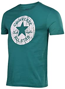 Converse Men's All Star Chuck Taylor Wood Patch T-Shirt-Green-Medium