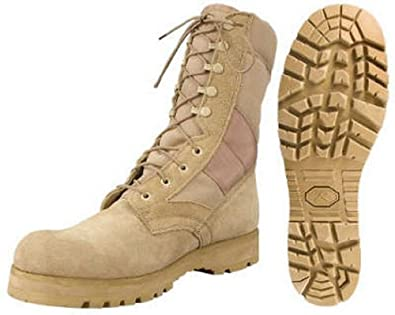 Combat Boots Desert Tan Lug Sole Military Boots