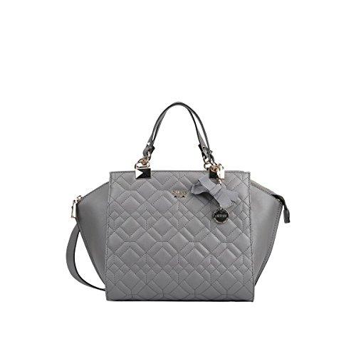 GUESS, Damen Handtaschen, Umhängetaschen, Henkeltaschen, Trapez-Bags, Grau, 41 x 26 x 12 cm (B x H x T) thumbnail