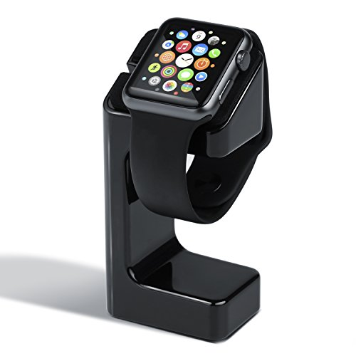 CSL - Apple Watch stand de charge | Charging Docking / Station Support pour tous les modèles Apple Watch 42mm et 38mm Basic / Sport / Edition | noir