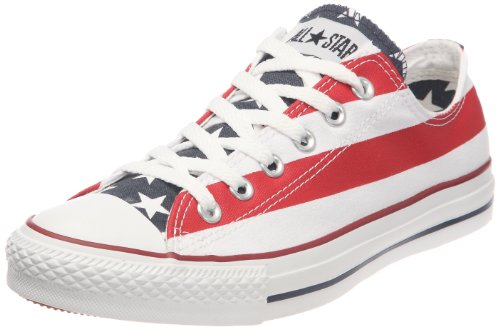 Converse Stars & Bars Ox, Scarpe sportive unisex adulto, Bianco (Blanc/bleu/rouge), 36
