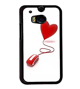 printtech Heart Mouse Back Case Cover for HTC One M8::HTC M8