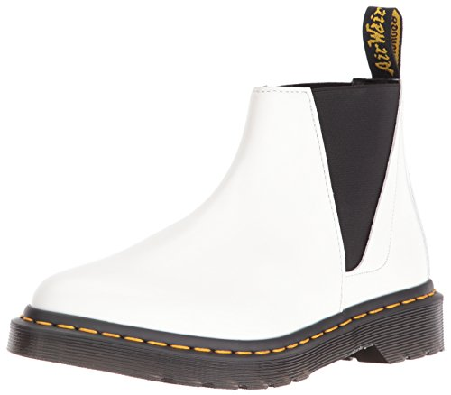 Dr.Martens Womens Bianca Smooth Chelsea White Leather Boots 41 EU