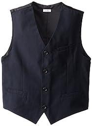 Calvin Klein Big Boys\' CK Pinstripe Vest, Navy, X-Large