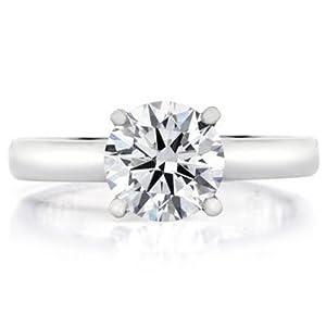 1.20 HSI1 GIA Round Diamond Platinum Ring Triple EX