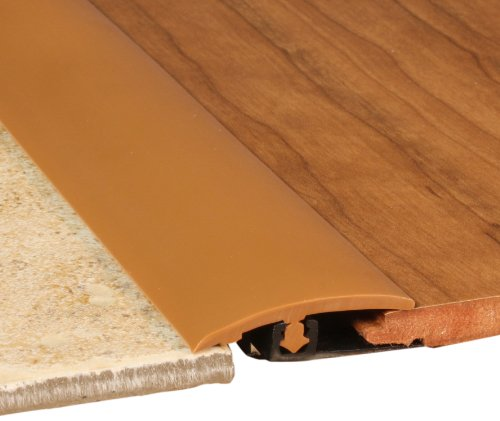 Cal-Flor TT10231S Total Trim All-In-One Solid Color Molding, 94-Inch, Caramel