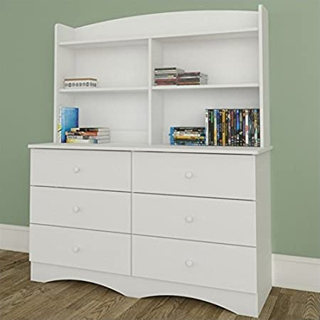 Nexera Vichy Dresser with Hutch in White