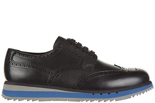 Prada scarpe stringate classiche uomo in pelle nuove derby montana nero EU 43.5 4E26453OREF0632