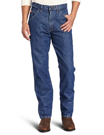 Wrangler Men's Riggs Workwear Relaxed Fit Jean, Medium Fade, 29x30
