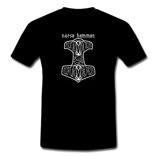 "T-Shirt ""Norse Hammer-Mjölnir"" S-XXL nero Large"