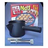 電気たこ焼器 たこやきナンバーワン 18穴+たこ焼きセット(フッ素粉つぎ、木柄ヘリ引、18-0たこ焼き油引)