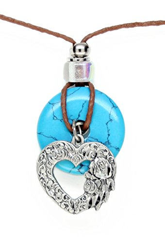 Earth Reflections Diamond Cut Pendant Necklace - Scroll Heart