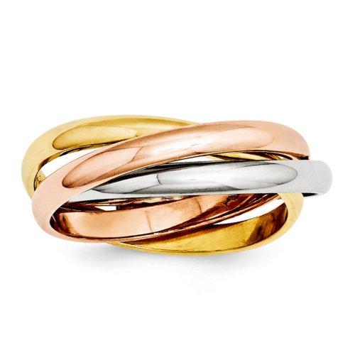 icecarats-designer-di-gioielli-di-dimensioni-7-14k-tri-color-lucido-anello-di-laminazione