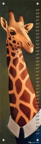 Oopsy Daisy Growth Charts Tall Giraffe by Margot Curran, 12 by 42-Inch