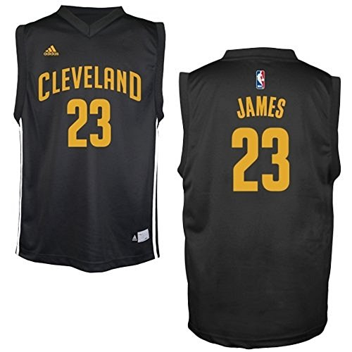 LeBron James #23 Cleveland Cavaliers NBA Youth Fashion Jersey Black (Youth Large 14/16)