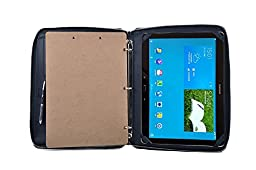 Deluxe 3-Ring Binder Padfolio with Handle and Clipboard,Outside Pouch Pocket, for SamsungGalaxyNotePro12.2