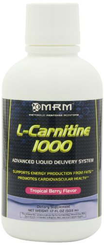 Mrm L-Carnitine 1000, Tropical Berry Flavor 17-Ounce