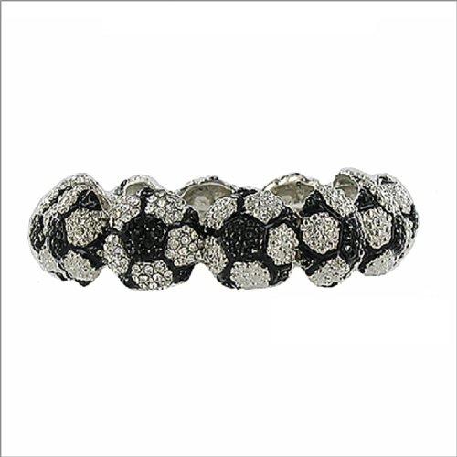 JOA Soccer Ball Design Linked Stretch Bracelet #041077