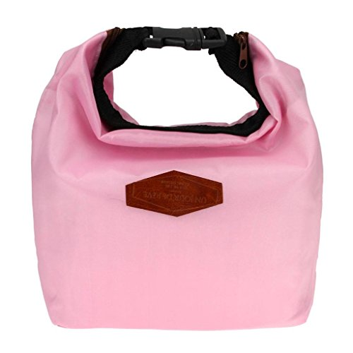 Starsource Reusable Portable Waterproof Hot/Cold Insulated Picnic Lunch bag Storage bag Pouch Bag ( Pink ) - 1