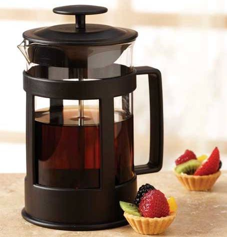 Sierra Black 6 Cup Glass French Coffee Press (24 oz Capacity) (24 Oz French Press compare prices)