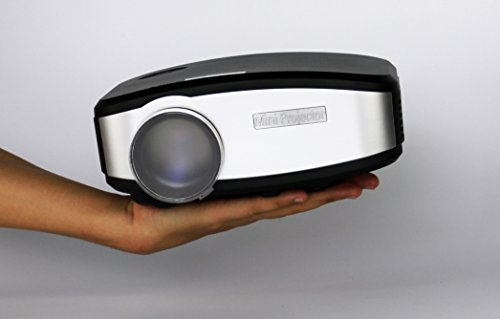 Led lcd mini video projector portable handheld fugetek for Portable handheld projector