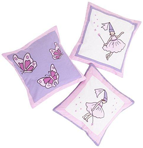 JoJo Maman Bebe 3 Fairy Decorative Pillows