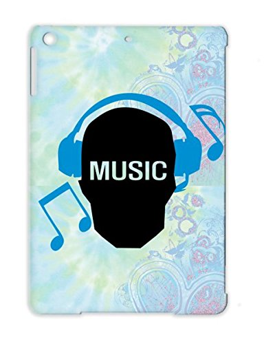 Music Skull Skull Geek Skull Headphones Music Note Listen To Text Earphones Music Notes Funny Geek Miscellaneous Protective Case For Ipad Air Navy