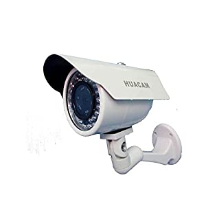 HUACAM HCV724 Outdoor 1.3 Megapixel PoE Network Surveillance Camera with Night Vision, H.264 & Mjpeg Video Format, 110 degree Wide View Angle.