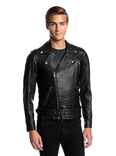 La Marque Men's Perfecto Moto Jacket with Hidden Stud