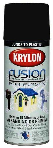 Krylon 2421 Fusion Spray Paint, Satin Black
