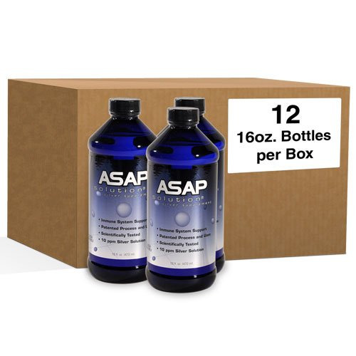 ASAP Silver Sol 16 oz Bottle Case - 12 pack