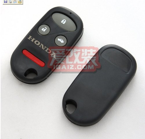 Remote Key Replacement Case Shell 4 Button Pad for Honda Crv S2000
