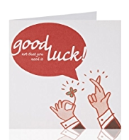 Good Luck Speechbubble Greeting Card