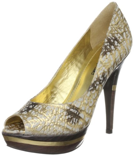 Moda in Pelle Women's Sloane Gold Platforms Heels Slo01 6 UK