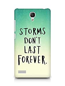 AMEZ storms dont last forever Back Cover For Xiaomi Redmi Note 4G