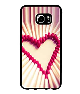 printtech Matchstick Love Heart Back Case Cover for Samsung Galaxy S6 Edge+ G928::Samsung Galaxy S6 Edge Plus G928F