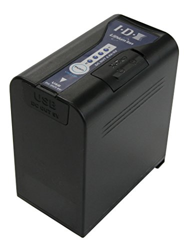 Extra High Capacity 7.2V battery for Panasonic AG-DVX200. Equipped with 4 LED power status indicator, USB and X-Tap power outputs